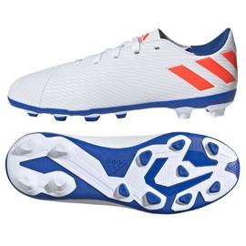 Buty piłkarskie adidas Nemeziz Messi 19.4 FxG Jr F99931 białe wielokolorowe