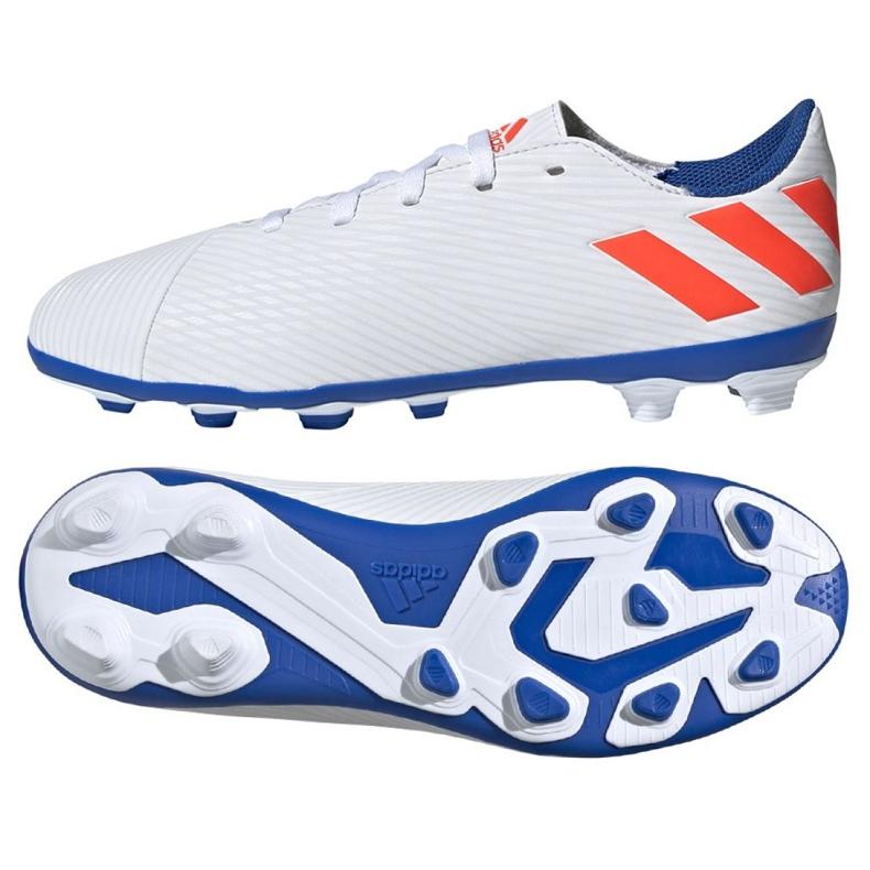Buty piłkarskie adidas Nemeziz Messi 19.4 FxG Jr F99931 biały białe