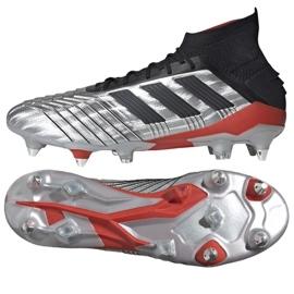 Buty piłkarskie adidas Predator 19.1 Sg M F99986 srebrny czerwony, szary/srebrny