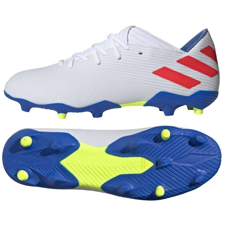 Buty piłkarskie adidas Nemeziz Messi 19.3 Fg M F34400 białe białe