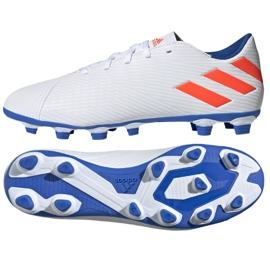 Buty piłkarskie adidas Nemeziz Messi 19.4 Fg M F34401 białe wielokolorowe