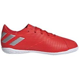 Buty piłkarskie adidas Nemeziz 19.4 In Jr F99938 czerwony czerwone
