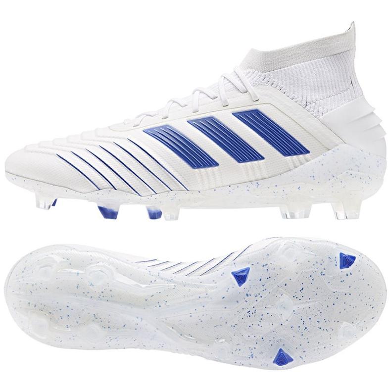 Buty piłkarskie adidas Predator 19.1 Fg M BC0550 białe białe