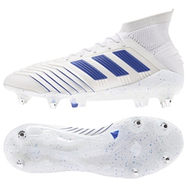 Buty piłkarskie adidas Predator 19.1 Sg M D98055 białe białe