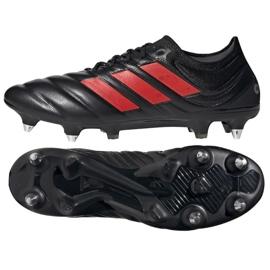 Buty piłkarskie adidas Copa 19.1 Sg M G26642 czarne wielokolorowe