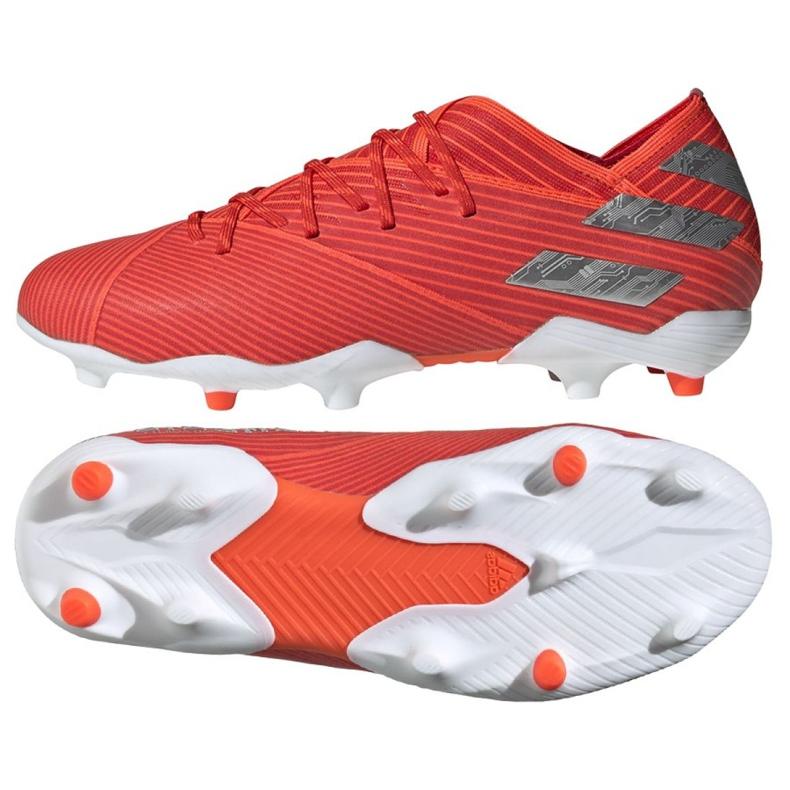 Buty piłkarskie adidas Nemeziz 19.1 Fg Jr F99955 czerwone czerwone