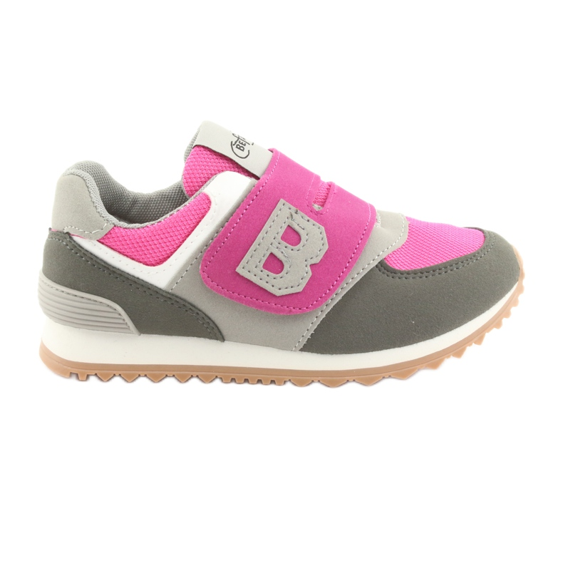 Befado obuwie dziecięce do 23 cm 516Y039 fioletowe szare