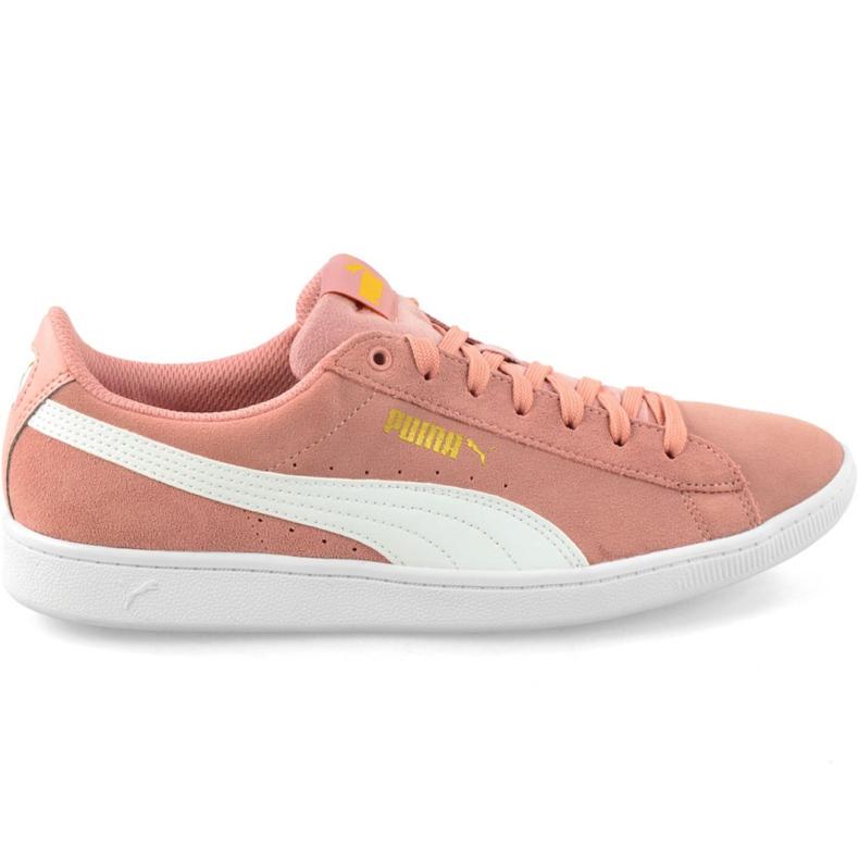 Różowe Buty Puma Vikky Peach Beige-Puma White W 362624 25