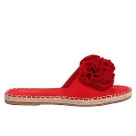 Klapki damskie czerwone L2777 Red