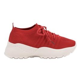 Czerwone Wsuwane Sneakersy VICES