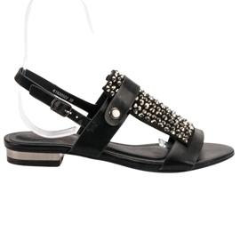 Kylie Czarne Sandały Damskie