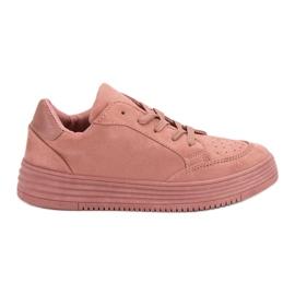 SDS różowe Zamszowe Buty Sportowe