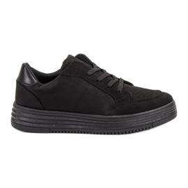 SDS czarne Zamszowe Buty Sportowe