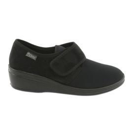 Czarne Befado obuwie damskie pu 033D002