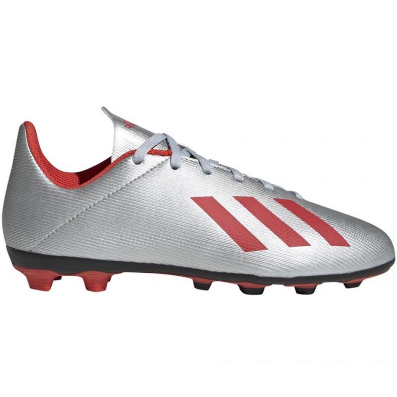 Buty piłkarskie adidas X 19.4 FxG Jr F35362 srebrny wielokolorowe