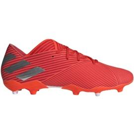 Buty piłkarskie adidas Nemeziz 19.2 Fg M F34385 czerwone czerwone