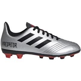 Buty piłkarskie adidas Predator 19.4 FxG Jr G25822 wielokolorowe srebrny
