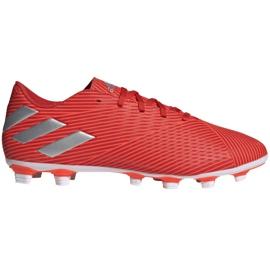 Buty piłkarskie adidas Nemeziz 19.4 FxG M F34393 czerwone czerwone