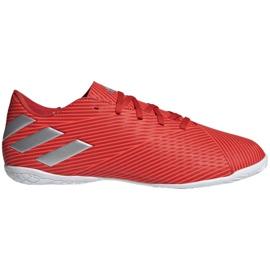 Buty halowe adidas Nemeziz 19.4 In M F34528 czerwone czerwone