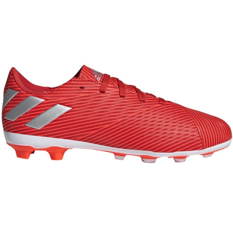Buty piłkarskie adidas Nemeziz 19.4 FxG Jr F99948 czerwone czerwone