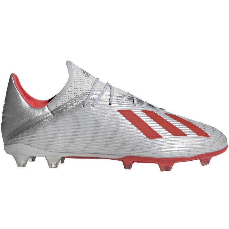 Buty piłkarskie adidas X 19.2 Fg M F35386 szare szary/srebrny