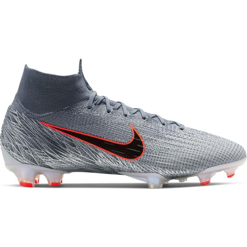 Buty piłkarskie Nike Mercurial Superfly 6 Elite Fg M AH7365-008 szare szary/srebrny