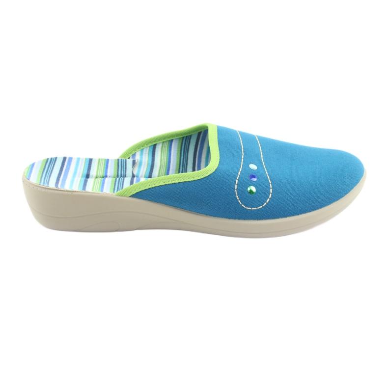 Befado obuwie damskie pu 552D008 niebieskie zielone