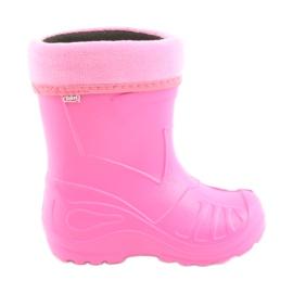 Różowe Befado obuwie dziecięce kalosz- róz 162P101