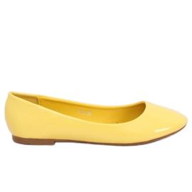 Baleriny lakierowane żółte T176 Yellow