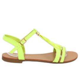 Sandałki damskie żółte 1-51 Green