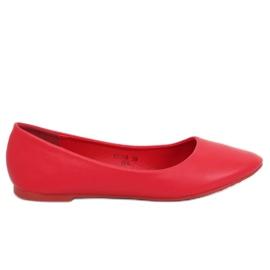 Baleriny damskie czerwone CC108 Red