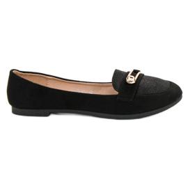 Top Shoes czarne Stylowe Baleriny