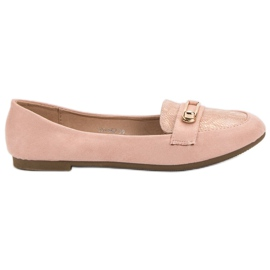 Top Shoes różowe Stylowe Baleriny