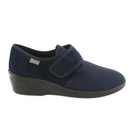 Granatowe Befado obuwie damskie pu 033D001