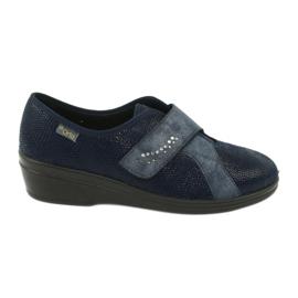 Befado obuwie damskie pu 032D001 niebieskie