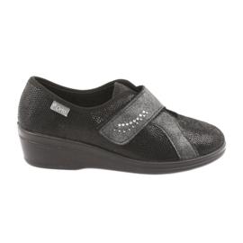 Czarne Befado obuwie damskie pu 032D002