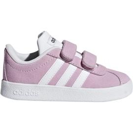 Buty dziecięce adidas Vl Court 2.0 Cmf I Trupnk F F36396 różowe