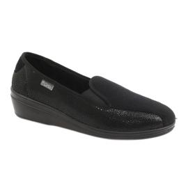 Czarne Befado obuwie damskie pu 034D002