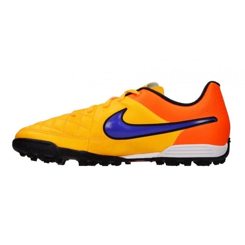 Buty piłkarskie Nike Tiempo Rio Ii Tf Jr 631524-858 żółty, pomarańczowy pomarańczowe