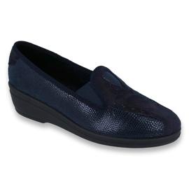 Granatowe Befado obuwie damskie pu 035D001
