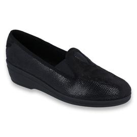 Czarne Befado obuwie damskie pu 035D002