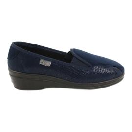 Granatowe Befado obuwie damskie pu 034D001