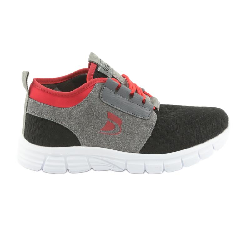 Befado obuwie dziecięce sportowe 516Y037 czarne czerwone szare