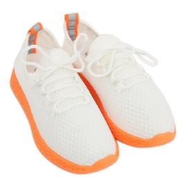 Buty sportowe biało-pomarańczowe NB283 Fluorescence Orange