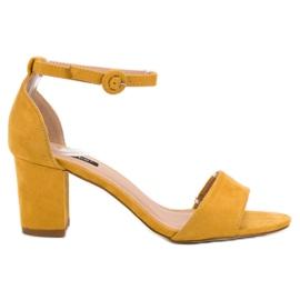 Żółte Stylowe Sandałki VICES