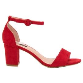 Czerwone Stylowe Sandałki VICES