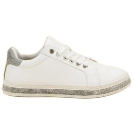 SDS Buty Sportowe Z Cyrkoniami białe