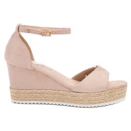 Sweet Shoes brązowe Sandały Espadryle