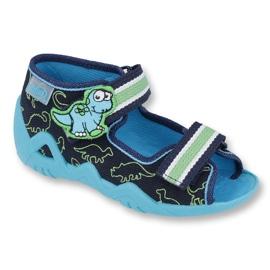 Befado zielone obuwie dziecięce 250P088