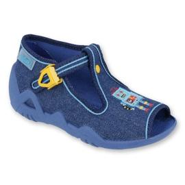 Befado obuwie dziecięce 217P103 niebieskie